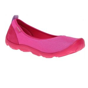 Crocs Flats 9 Pink Slip On Duet Busy Day Mesh NWT